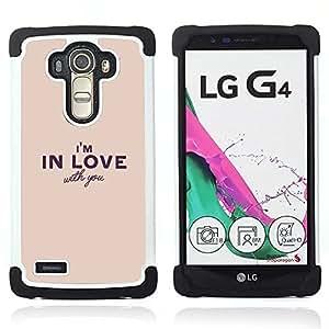 For LG G4 H815 H810 F500L - Girlfriend boyfriend valentines heart Dual Layer caso de Shell HUELGA Impacto pata de cabra con im??genes gr??ficas Steam - Funny Shop -
