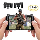 Mobile Game Controller, Sensitive Shoot and Aim Keys L1R1 Shooter Mobile Shooting Games Controller for PUBG/Fortnite/Rules of Survival/Knives Out, Gaming Triggers for IOS and Android (left+right)