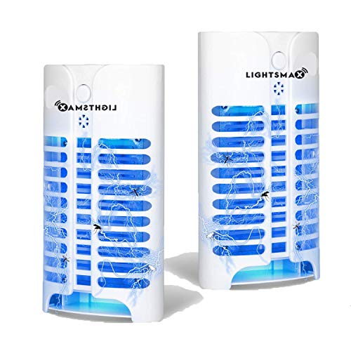 LIGHTSMAX Ultimate Indoor Bug Zapper Flying Insect Killer Using Unique UV Light Trap Technology & Sensor | Electronic Fly Repeller/Repellent, Electric Plug-in Lamp Pest Control for Gnat & Mosquitoes