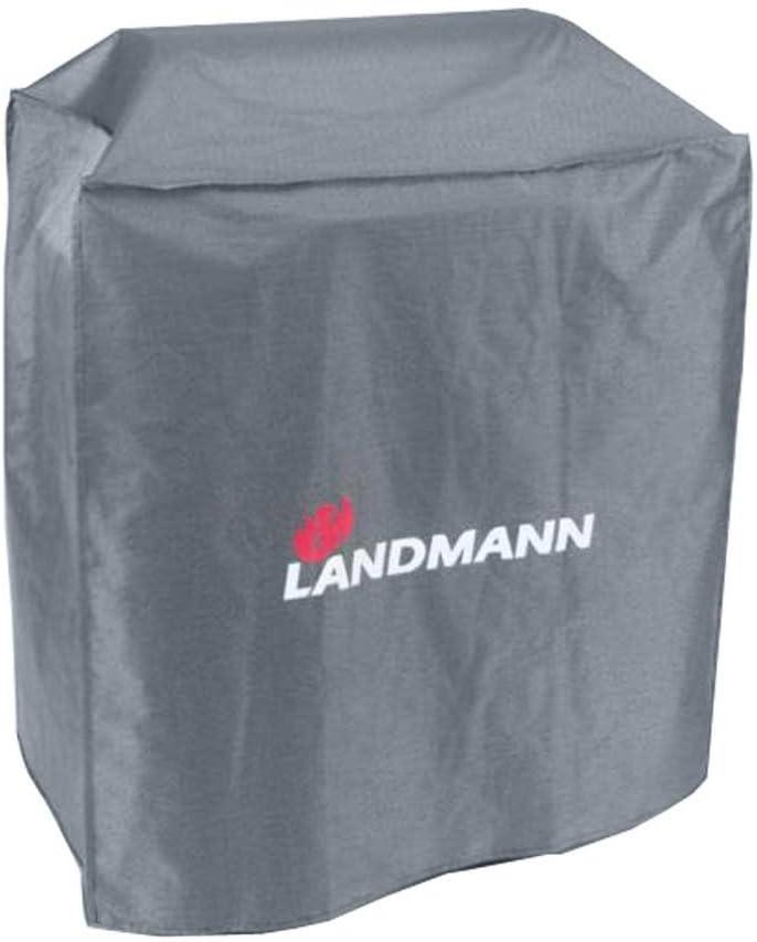 LANDMANN Premium Wetterschutzhaube 60 x 96 x 120 cm Geeignet f/ür den GRILLCHEF Gasbr/äter Profi 4 BR Aus robustem Polyestergewebe /& Wasserdicht