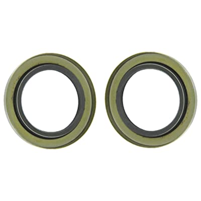 """2 Double Lip Grease Seal Trailer Axle Wheel Hub Assemblies, Inner Diameter: 2.125"""", Outer Diameter: 3.376"""", Dl-2125-03 (2 Included): Automotive"""