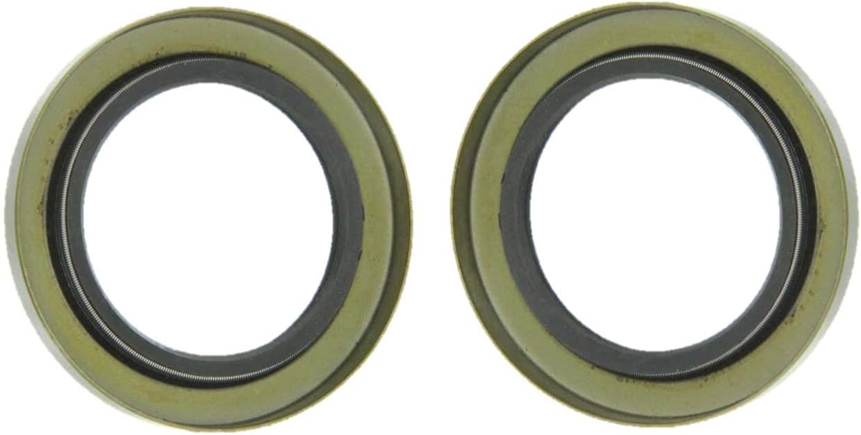 """Oil and Grease Seal 2.126/""""x 2.874/""""x 0.394/"""" Inch Rubber Covered Double Lip w//Gart"""