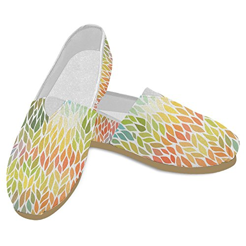 InterestPrint Womens Loafers Classic Casual Canvas Slip On Fashion Shoes Sneakers Mary Jane Flats Leaves kAs5x