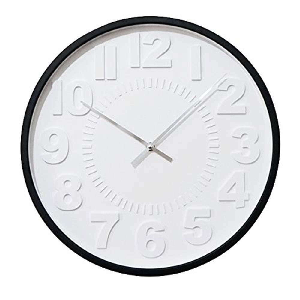 Erosg 40センチメートル現代の壁時計、非刻々としている無声水晶電池式の家/オフィス/学校の直感的なデジタル表示装置のための読みやすい台所時計   B07QYRXSXL