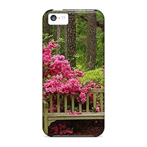Case Cover Tranquil Bench Seat/ Fashionable Case For Iphone 5c