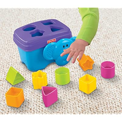 Fisher-Price Growing Baby Elephant Shape Sorter: Toys & Games