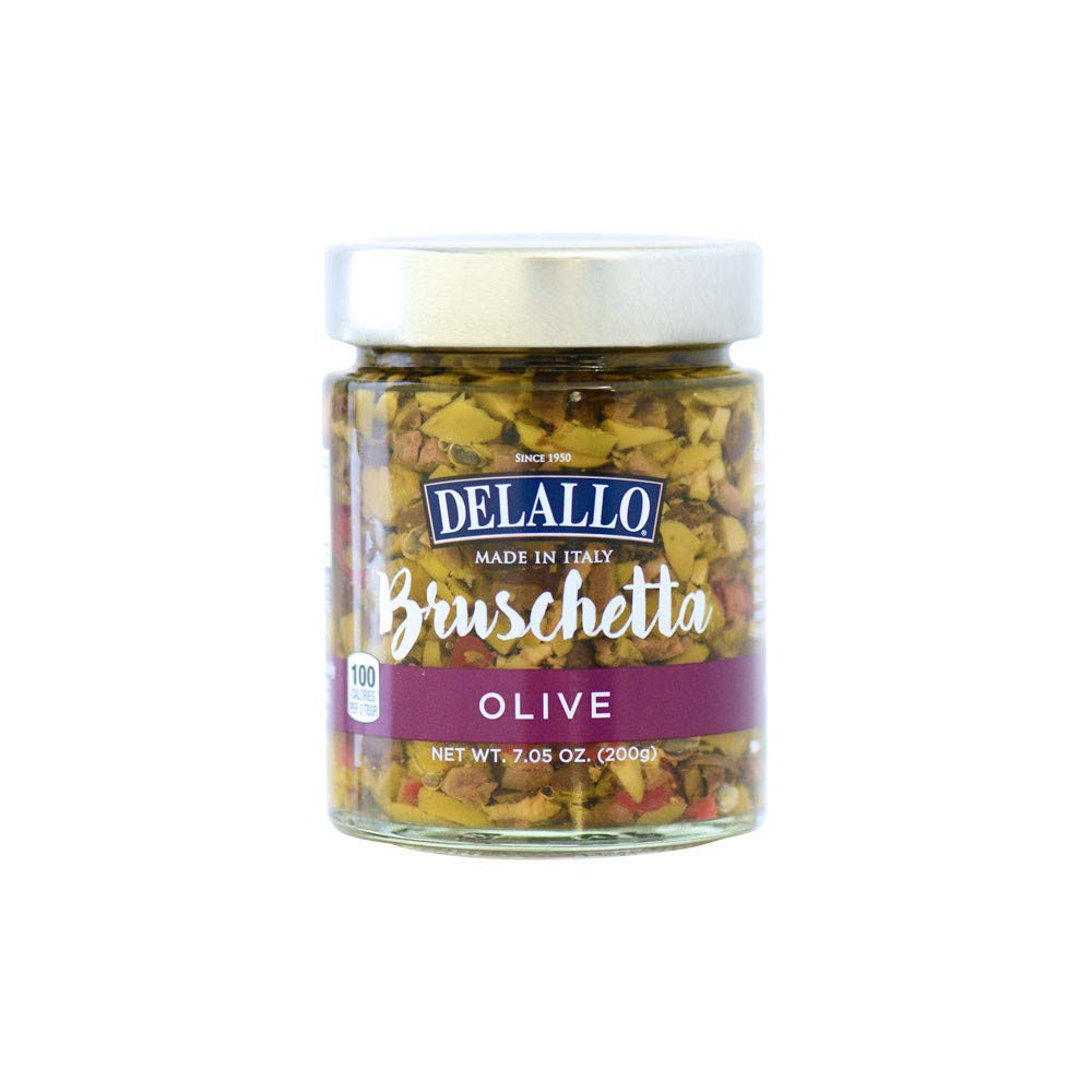 DeLallo Imported Italian Olive Bruschetta 7.05 oz. - 3 pack by DeLallo