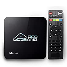 2017 Newest Model GooBang Doo Master Android 6.0 Marshmallow TV Box Amlogic S905X 64 Bits Quad Core and Supporting 4K (60Hz) Full HD / H.265 /WiFi 2.4GHz/Bluetooth 4.0