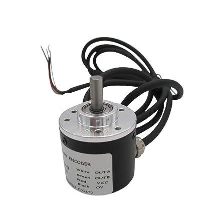 Taissab 2 Phase Incremental Rotary Encoder 100pr Dc 5 24v Wide