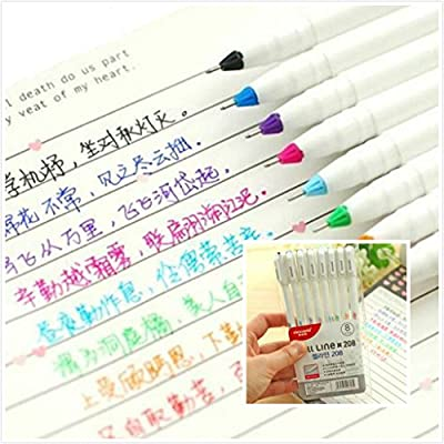 2 Pack Coloring Pens for Adults Teens Artists Gel Ink Pen Set School Office Home Stationery Set Drawing Marker Pen Xmas Gift