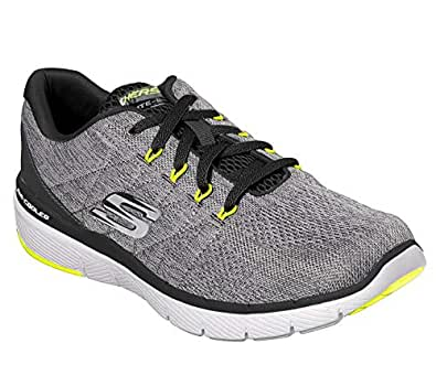 Skechers Mens Flex Advantage 3.0 Stally Grey Size: 7