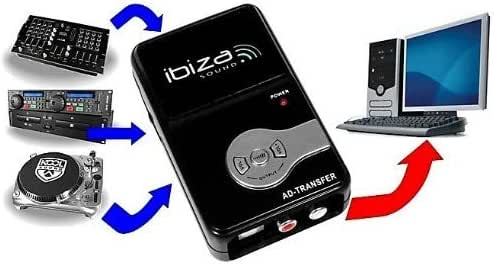 Ibiza Sound preamplificador para Tocadiscos y AUX para PC: Amazon ...