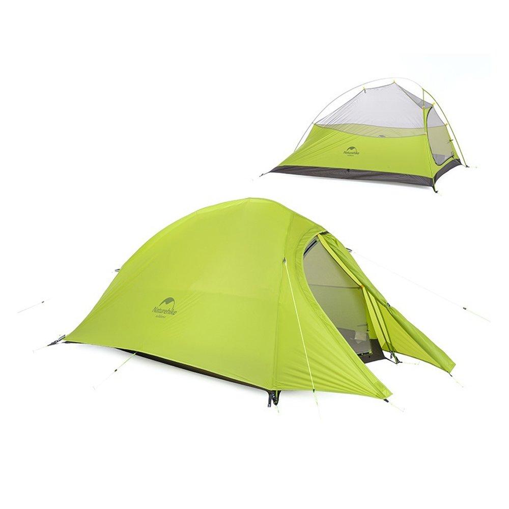 NatureHike(ネイチャーハイク) テント 超軽量 4シーズン 防風防水〔2人用〕二重層 UVカット【正規品】 プロフェッショナル(専用グランドシート付)NH15T002-T  グリーン(20Dナイロンオックスフォード) B07439PBVW
