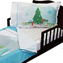 3pc RoomCraft Christmas Wish Toddler Bedding Set Winter Holiday Blanket Sheet and Pillowcase Set