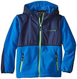 Free Country Little Boys\' Fleece Full Zip Hooded Jacket, Electric Blue, Small/4