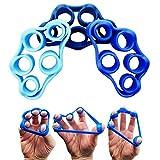Ueasy Finger Exerciser Hand Extensor Exerciser Finger Grip Strengthener Strength Trainer Set for Physical Hand Exercisers Blood Circulation and Stress Relief(3 PCS) (Sky Blue/Blue/Dark Blue) Review