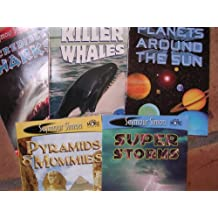 Science Seymour Simon Box Set of 5 ; Sharks, Whales, Storms, Planets, Pyramids
