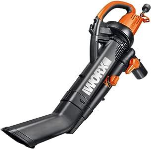 "WORX WG505 3-in-1 Blower/Mulcher/Vacuum, 9"" x 15"" x 20"", Orange and Black"