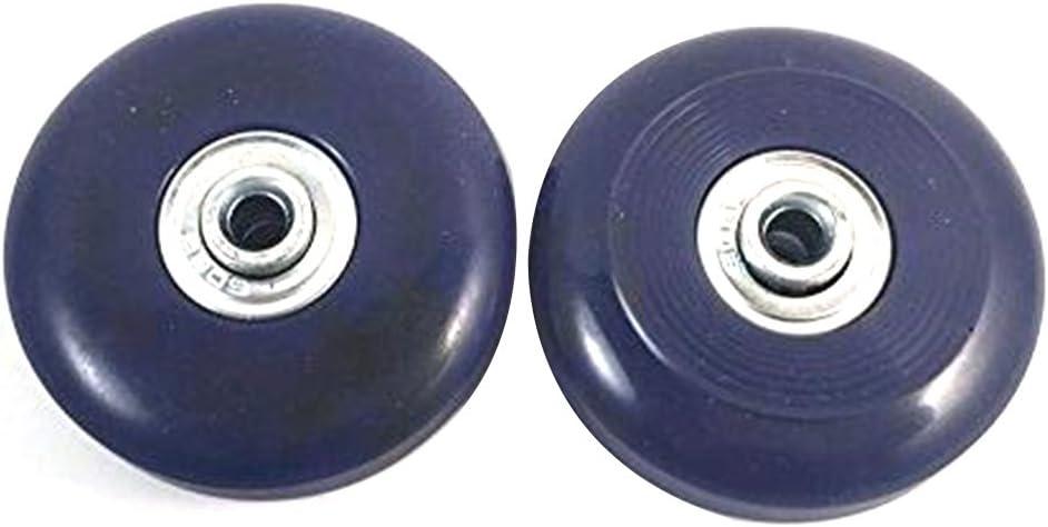 2 Conjunto de la maleta del equipaje del reemplazo Ruedas Ejes y Reparación Llave conjunto de 56mm