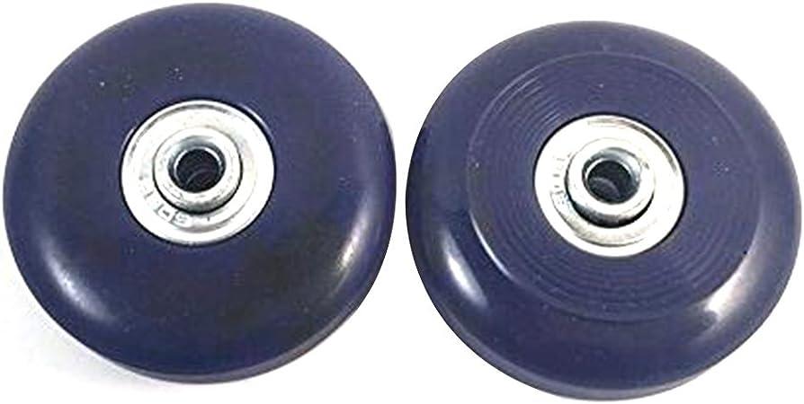 2 Conjunto de la maleta del equipaje del reemplazo Ruedas Ejes y Reparaci/ón Llave conjunto de 64mm