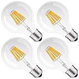 DORESshop LED Filament Bulb Dimmable, 75Watt Equivalent (8W)...