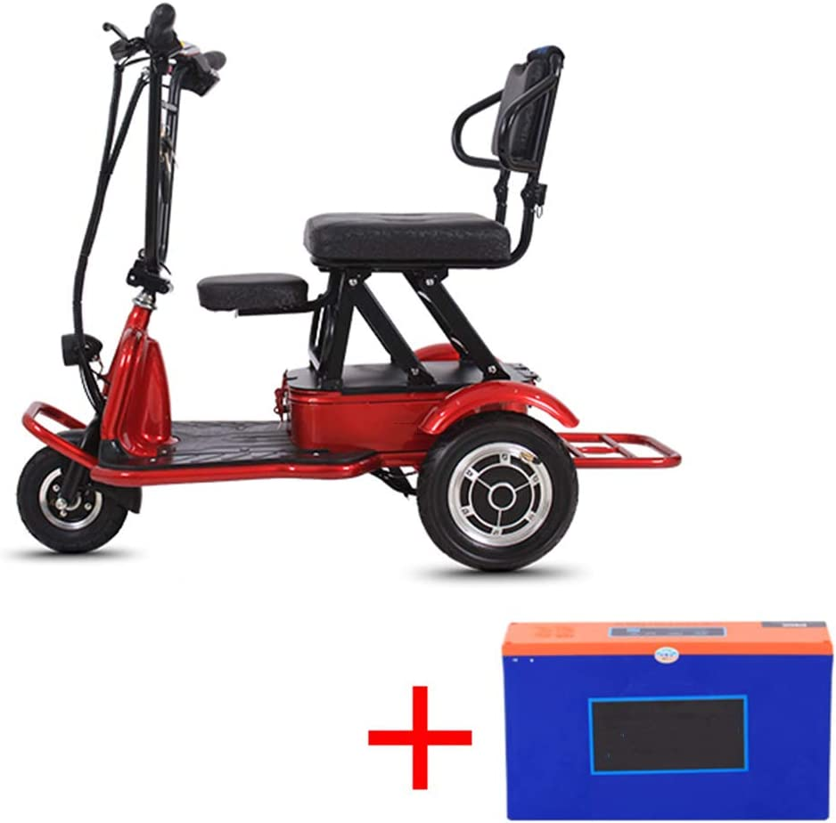 LTLSF Triciclo Eléctrico Plegable, Ligero Ancianos Discapacitados ...