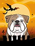 Caroline's Treasures BB1777GF Halloween English Bulldog Garden Size Flag, Small, Multicolor