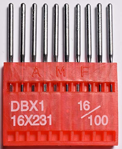 - SFG AMF Industrial Sewing Machine Needles Round Shank Universal Ball Point DBX1 100/16 Qty 100