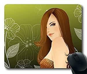 Fashion girl Easter Thanksgiving Personlized Masterpiece Limited Design Oblong Mouse Pad by Cases & Mousepads