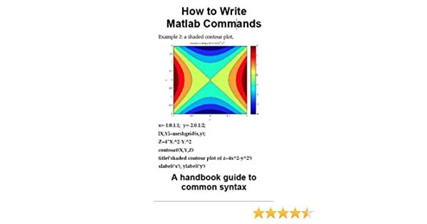 How to Write MATLAB Commands: a handbook guide to common syntax