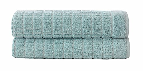 Cotton Reversible Towel - Ottomanson Reversible Cotton Washable 2pcs Banded Bath Mat, 20 X 31
