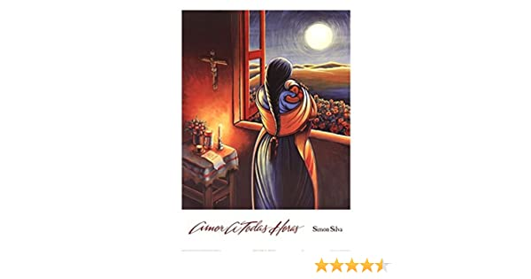 Amazon.com: Amor a Todas Horas (Love at all Hours) Mother and Child Art Print Poster by Simon Silva, Overall Size: 24x32, Image Size: 21.5x25.5: Prints: ...