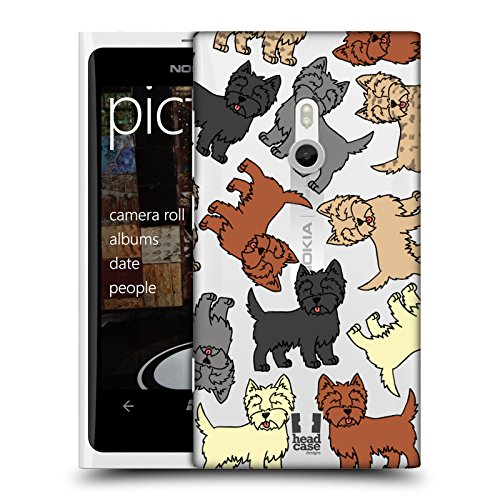 Head Case Designs Cairn Terrier Dog Breed Patterns 6 Hard Back Case for Nokia Lumia 800 / Sea - Rays Cairns
