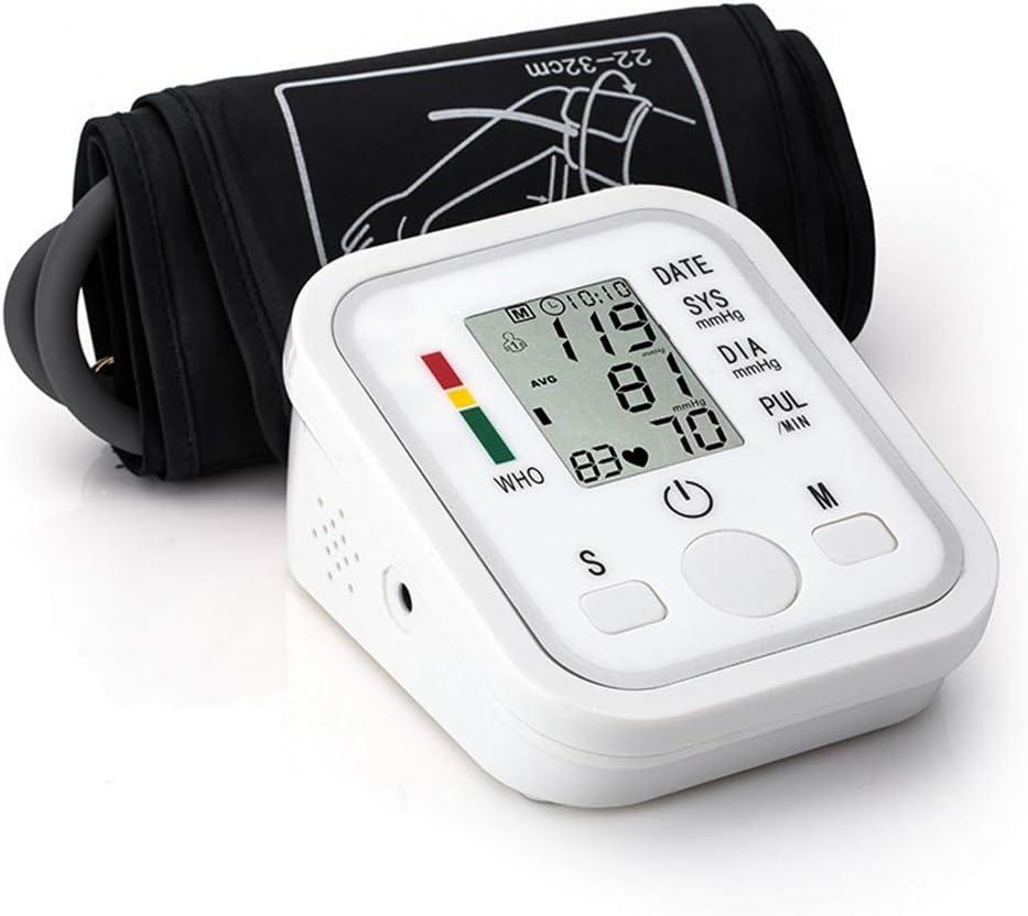 XINCHAOZ Monitor de presión Arterial de la Parte Superior del Brazo, esfigmomanómetro de Pulso Inteligente con frecuencia cardíaca Digital con transmisión de Voz para detección médica y Deportiva