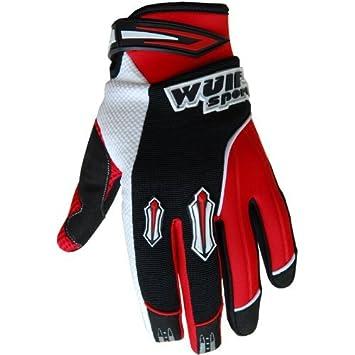 XS 10-12 Years, Black Wulfsport Kids Gloves Pair Stratos MX Junior Motocross Quad Biking