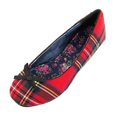 Heritage of Scotland Women's Flat Ballerina Shoes STEWART ROYAL x5vIddr