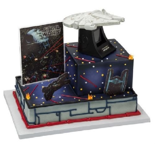 (CakeDrake STAR WARS StarWars Millennium Falcon DecoSet¨ Cake Decoration Topper Set Kit)