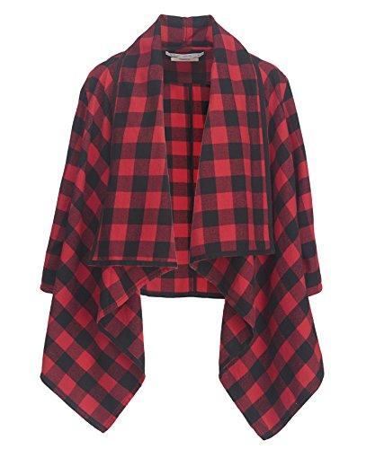 Woolrich Buffalo Check (Woolrich Women's Pemberton Flannel Wrap, Red Buffalo Check, XL/XXL)