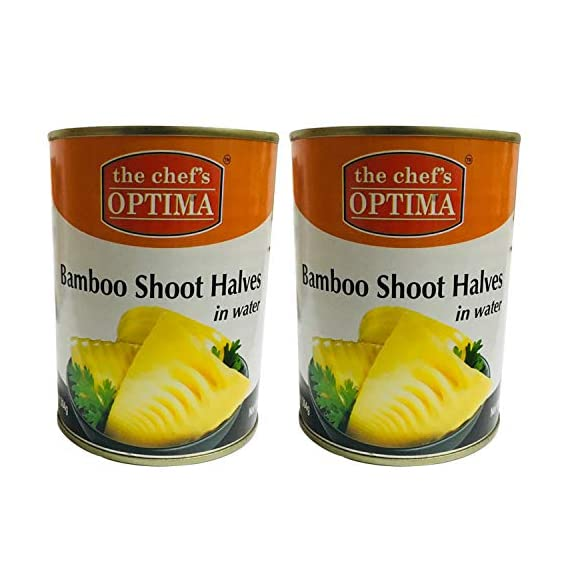 The Chef's Optima Bamboo Shoot Halves in Water, 2 x 552 g