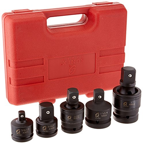 "Sunex International 4405 5 Pc. 3/4"" & 1"" Dr. Adapter and Universal Joint Impact Set"