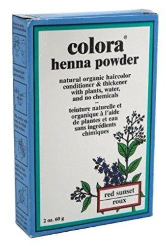 Colora Henna Powder Hair Color Red Sunset 2 Ounce (59ml) (6 Pack) by Colora Henna