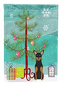Caroline's Treasures BB4153GF Merry Christmas Tree Manchester Terrier Garden Size Flag, Small, Multicolor