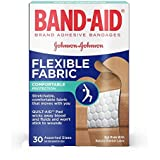 Band-Aid Brand Flexible Fabric Comfortable protection Adhesive Bandages for Minor Wound Care, Assorted Sizes, 30 Count