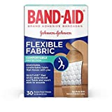 Band-Aid Brand Flexible Fabric Adhesive Bandages For Minor Wound Care, Assorted Sizes, 30 Count