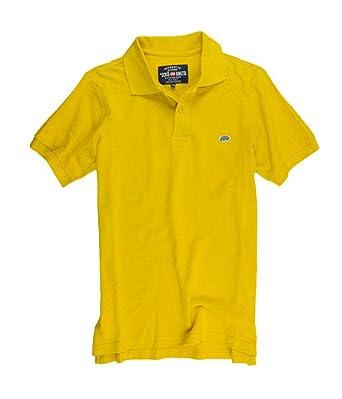 53e608f45d6 Ecko Unltd. Mens Wallburner Solid Color Rugby Polo Shirt oldgold XS