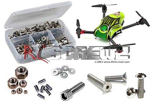 RCScrewZ Aerial Freaks Hyper 3D 280 FPV/Multicoptor Stainless Steel Screw Kit (Freak Steel Stainless Kit)