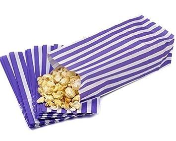 1000 bolsas de papel de rayas para dulces, fiestas ...