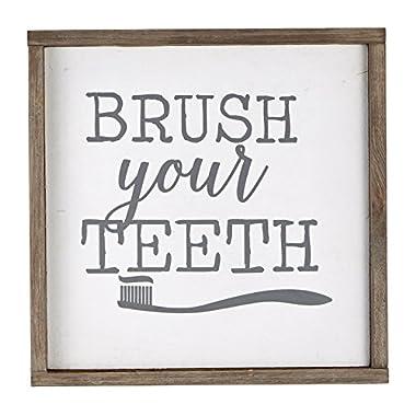 Mud Pie Brush Your Teeth Plaque