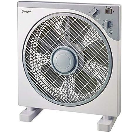 Bluesky BBF12-17 - Ventilador (Ventilador con aspas para el hogar, Gris, Blanco, Piso, Mesa, 1300 RPM, Botones, Giratorio, 1 h): Amazon.es: Hogar