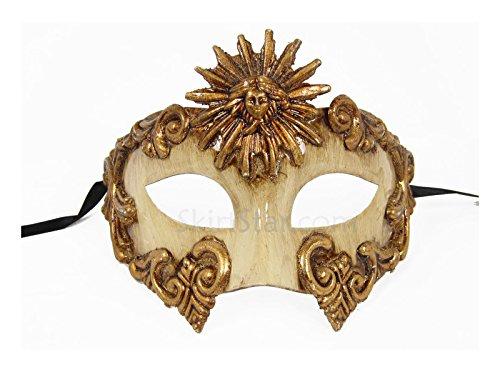 [Men's Warrior Masquerade Mask Cream (Bronze)] (Ancient Roman Soldier Costume)